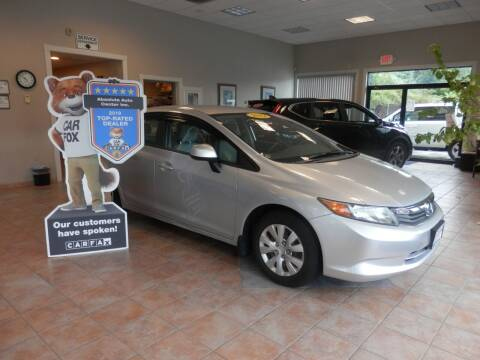 2012 Honda Civic for sale at ABSOLUTE AUTO CENTER in Berlin CT
