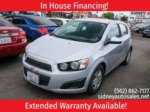 2013 Chevrolet Sonic for sale at Sidney Auto Sales in Downey CA
