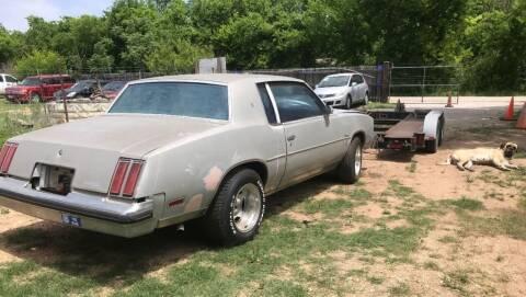 1979 Oldsmobile Cutlass for sale at Hatimi Auto LLC in Austin TX