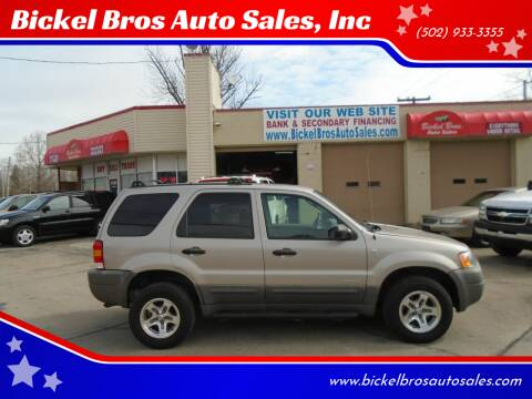 2001 Ford Escape for sale at Bickel Bros Auto Sales, Inc in Louisville KY