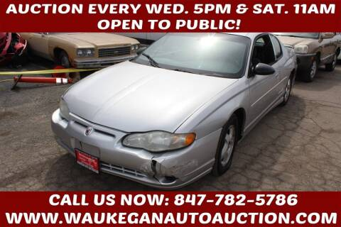 2002 Chevrolet Monte Carlo for sale at Waukegan Auto Auction in Waukegan IL