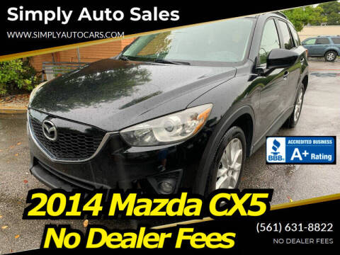 2014 Mazda CX-5 for sale at Simply Auto Sales in Palm Beach Gardens FL