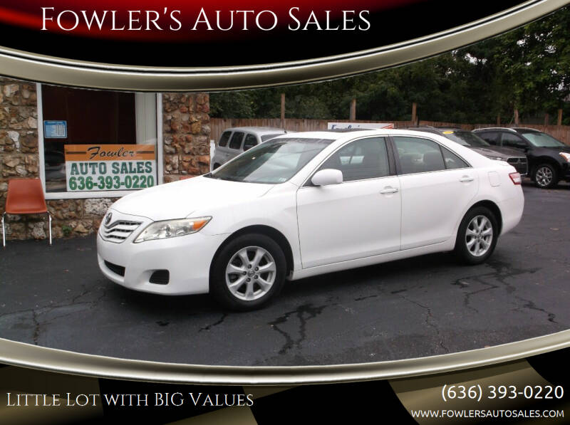 2010 Toyota Camry for sale at Fowler's Auto Sales in Pacific MO