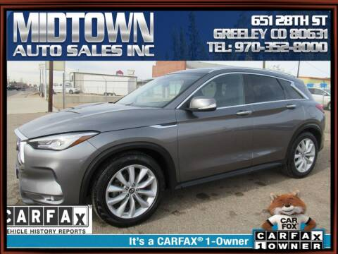 2019 Infiniti QX50 for sale at MIDTOWN AUTO SALES INC in Greeley CO