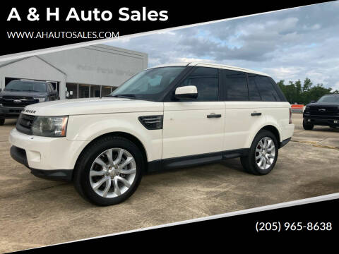 2010 Land Rover Range Rover Sport for sale at A & H Auto Sales in Clanton AL