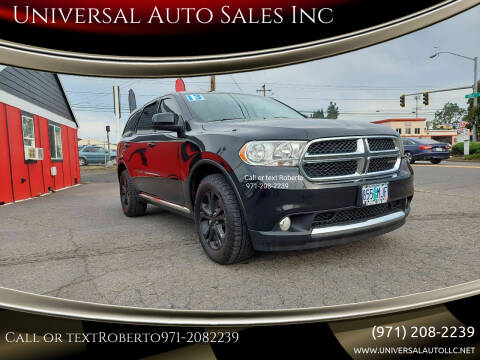 2013 Dodge Durango for sale at Universal Auto Sales Inc in Salem OR