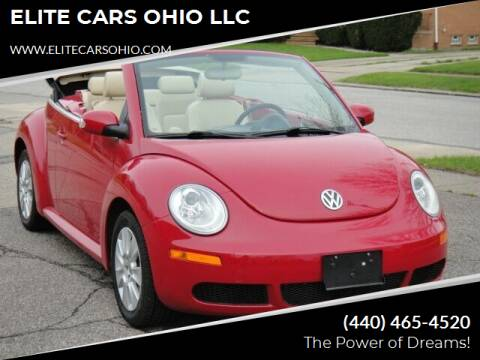 2009 Volkswagen New Beetle Convertible for sale at ELITE CARS OHIO LLC in Solon OH