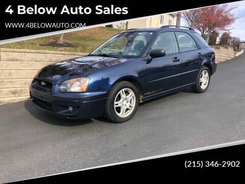2005 Subaru Impreza for sale at 4 Below Auto Sales in Willow Grove PA