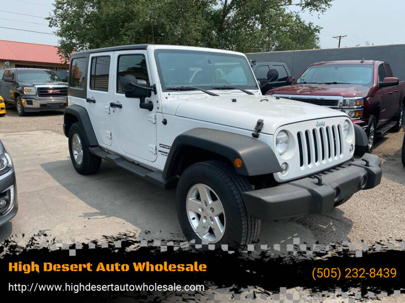 2017 Jeep Wrangler Unlimited for sale at High Desert Auto Wholesale in Albuquerque NM