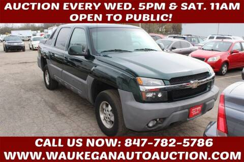 2002 Chevrolet Avalanche for sale at Waukegan Auto Auction in Waukegan IL