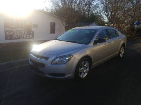 2012 Chevrolet Malibu for sale at TR MOTORS in Gastonia NC