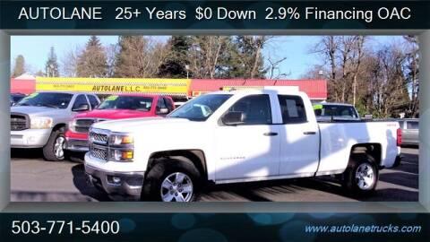 2014 Chevrolet Silverado 1500 for sale at Auto Lane in Portland OR