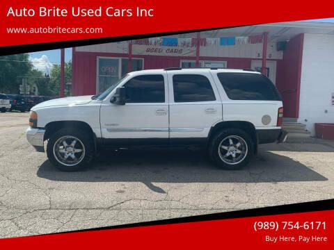 2003 GMC Yukon for sale at Auto Brite Used Cars Inc in Saginaw MI