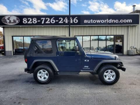 2006 Jeep Wrangler for sale at AutoWorld of Lenoir in Lenoir NC