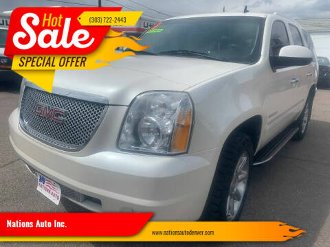 2011 GMC Yukon for sale at Nations Auto Inc. in Denver CO
