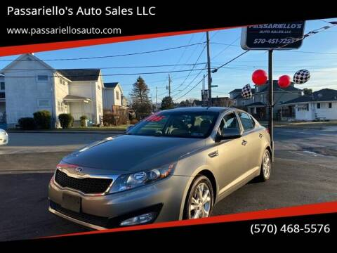 2013 Kia Optima for sale at Passariello's Auto Sales LLC in Old Forge PA
