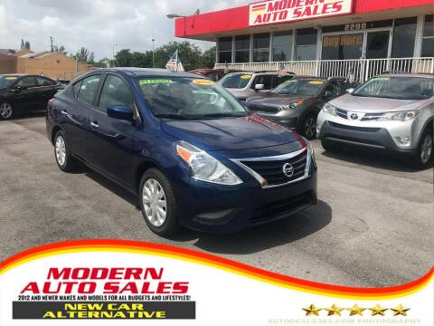 2018 Nissan Versa for sale at Modern Auto Sales in Hollywood FL