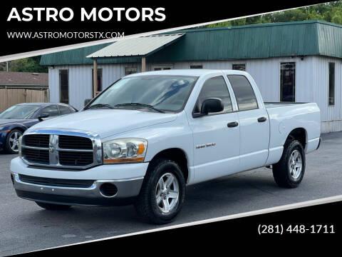 2006 Dodge Ram Pickup 1500 for sale at ASTRO MOTORS in Houston TX