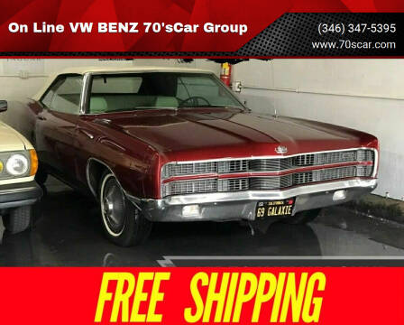 1969 Ford Galaxie XL 390 for sale at On Line VW BENZ 70'sCar Group in Warehouse CA