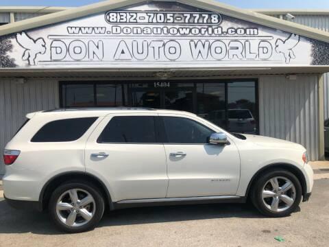 2011 Dodge Durango for sale at Don Auto World in Houston TX