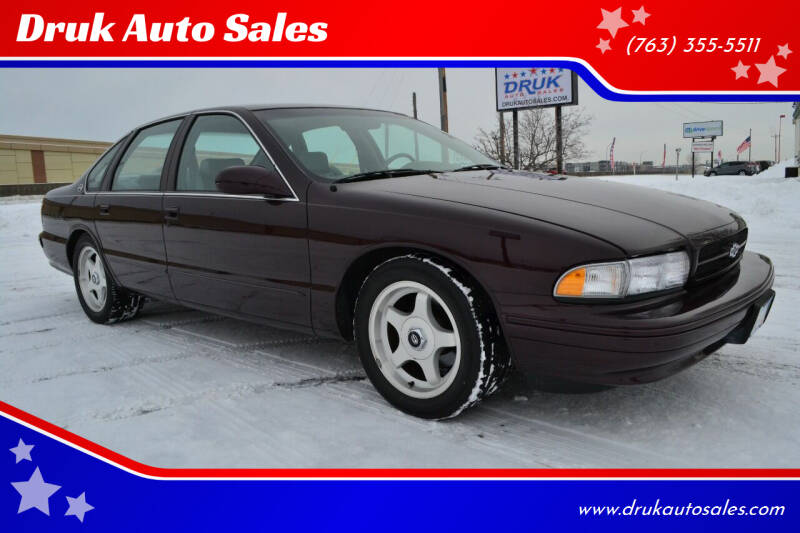 1996 Chevrolet Impala for sale at Druk Auto Sales in Ramsey MN