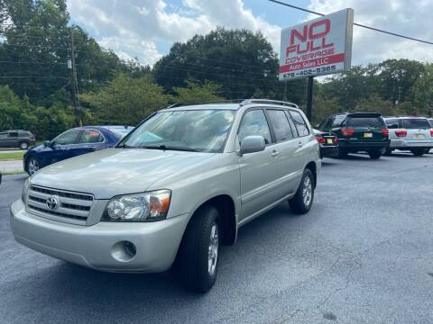 2005 Toyota Highlander for sale at No Full Coverage Auto Sales in Austell GA