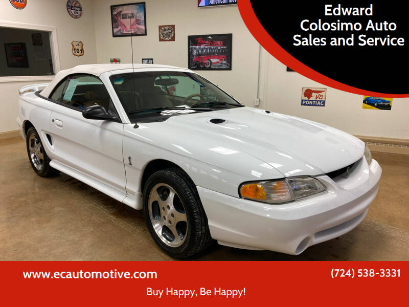 1997 Ford Mustang SVT Cobra for sale at Edward Colosimo Auto Sales and Service in Evans City PA