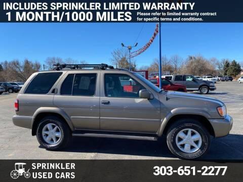2001 Nissan Pathfinder for sale at Sprinkler Used Cars in Longmont CO