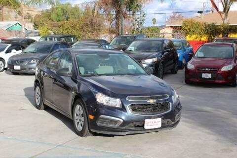 2015 Chevrolet Cruze for sale at Car 1234 inc in El Cajon CA
