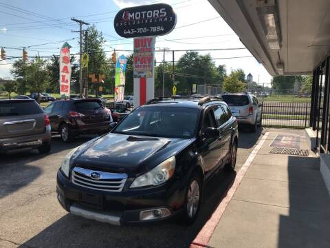 2011 Subaru Outback for sale at i3Motors in Baltimore MD