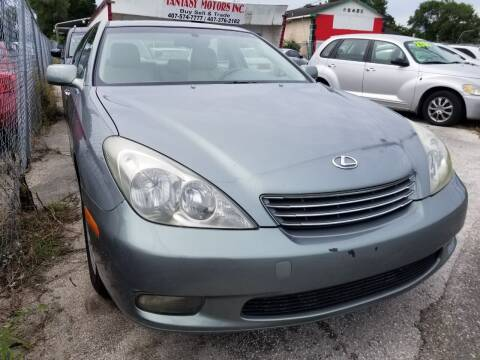 2002 Lexus ES 300 for sale at Fantasy Motors Inc. in Orlando FL
