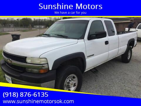 2002 Chevrolet Silverado 2500HD for sale at Sunshine Motors in Bartlesville OK