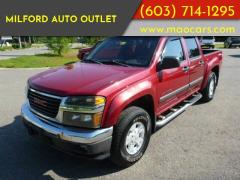 2005 GMC Canyon for sale at Milford Auto Outlet in Milford NH