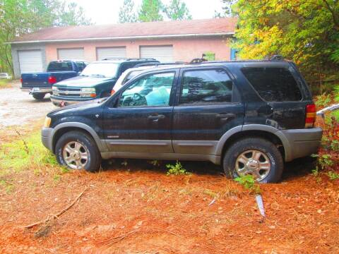 2001 Ford Escape for sale at Wright's Auto Sales in Lancaster SC
