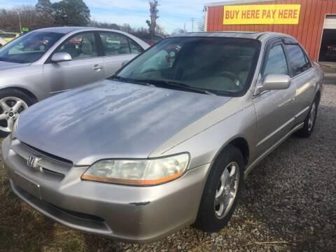 1998 Honda Accord for sale at McAllister's Auto Sales LLC in Van Buren AR