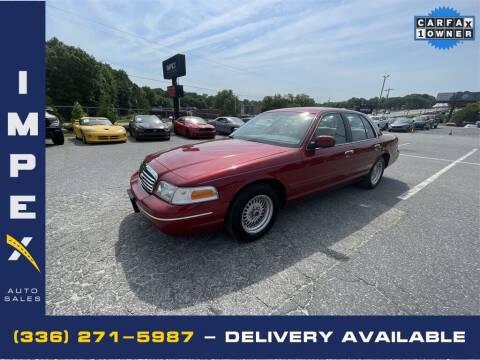 1999 Ford Crown Victoria for sale at Impex Auto Sales in Greensboro NC