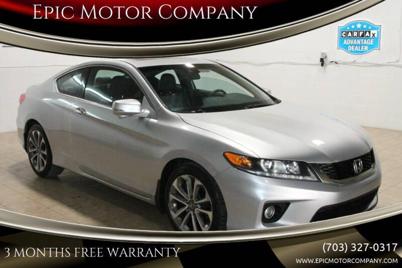 2014 Honda Accord for sale at Epic Motor Company in Chantilly VA