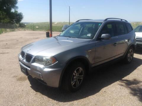 2006 BMW X3 for sale at PYRAMID MOTORS - Pueblo Lot in Pueblo CO