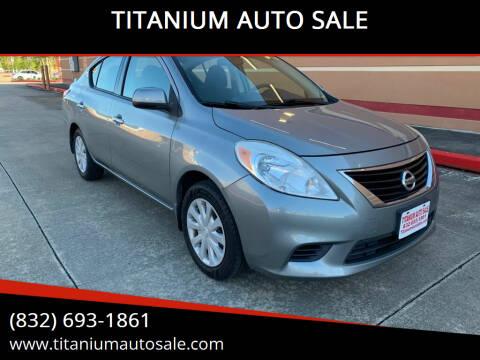 2014 Nissan Versa for sale at TITANIUM AUTO SALE in Houston TX