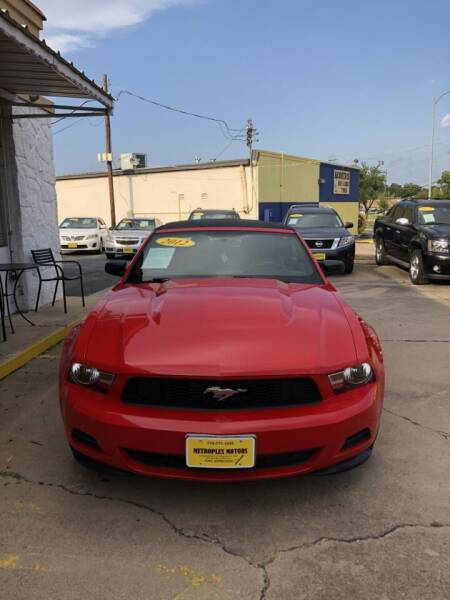 2012 Ford Mustang for sale at Metroplex Motors Inc. in Houston TX