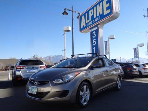2013 Hyundai Elantra for sale at Alpine Auto Sales in Salt Lake City UT