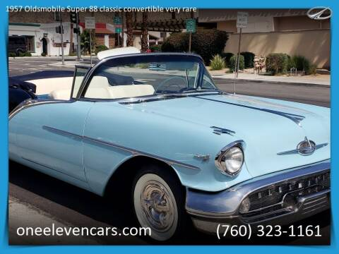 1957 Oldsmobile Super 88 classic convertible v for sale at One Eleven Vintage Cars in Palm Springs CA