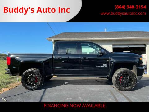 2018 Chevrolet Silverado 1500 for sale at Buddy's Auto Inc in Pendleton SC