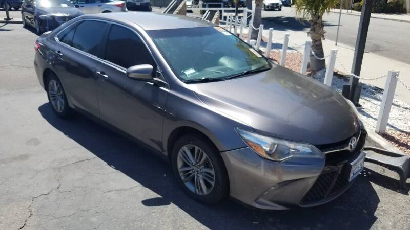 2017 Toyota Camry for sale at In-House Auto Finance in Hawthorne CA
