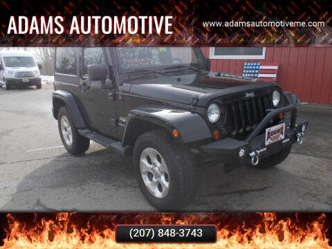 2013 Jeep Wrangler for sale at Adams Automotive in Hermon ME