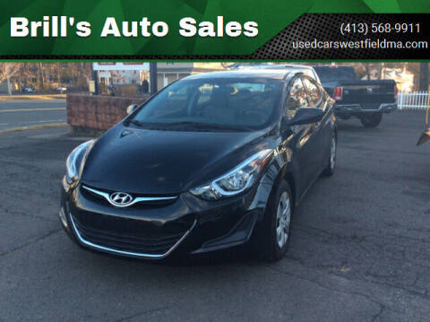 2016 Hyundai Elantra for sale at Brill's Auto Sales in Westfield MA