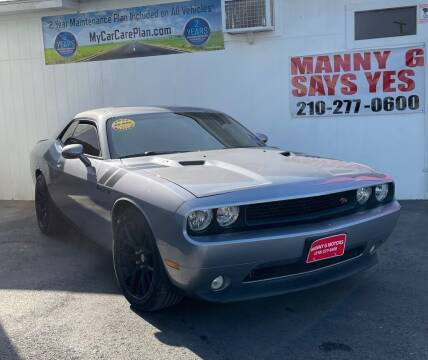 2014 Dodge Challenger for sale at Manny G Motors in San Antonio TX