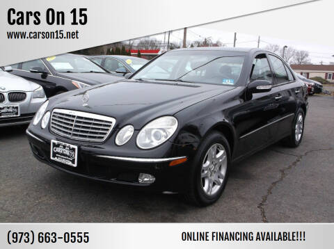 2003 Mercedes-Benz E-Class for sale at Cars On 15 in Lake Hopatcong NJ