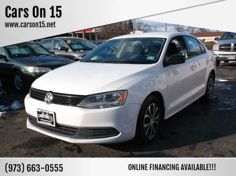 2013 Volkswagen Jetta for sale at Cars On 15 in Lake Hopatcong NJ