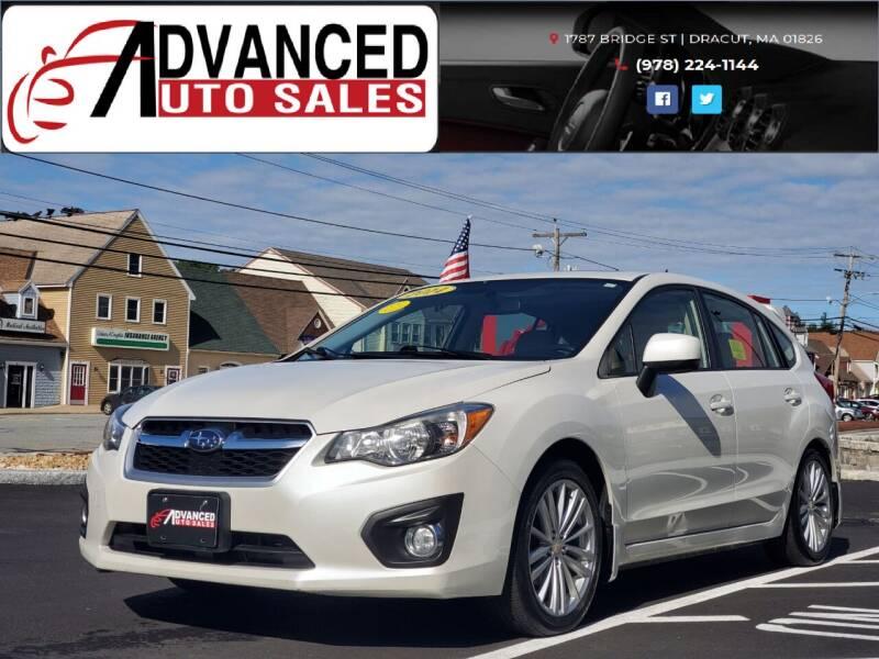2014 Subaru Impreza for sale at Advanced Auto Sales in Dracut MA